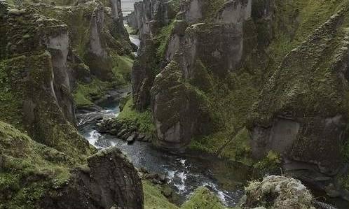fjaorargljufur kanyonu izlanda