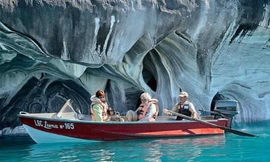 carrera gölünün mermer mağaraları şili