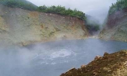 dominikanın kaynayan gölü