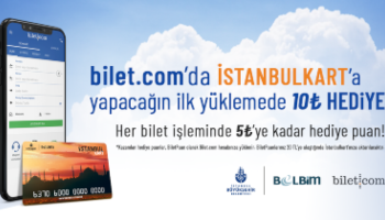 İstanbulkart Yüklemenize 10 TL Hediye