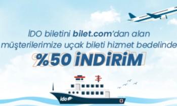 İDO Bileti Alan Herkese Uçak Bileti Hizmet Bedelinde %50 İndirim!